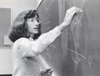 Professor Eleanor Brown teaching Microeconomics in 1992