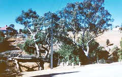 Deadmans pass swing bridge c1972 with 1 Coombe Street showing.