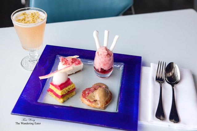 "Rhubarb Rhubarb Rhubarb ""Not Afternoon Tea"" with a bespoke cocktai pairing"