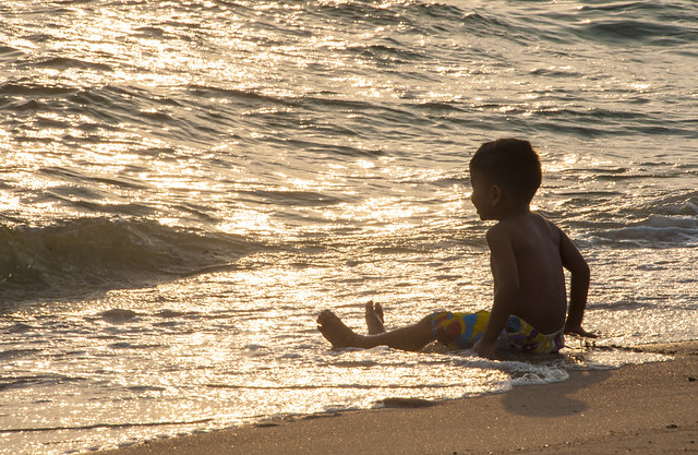 Boy at Pattaya Beach