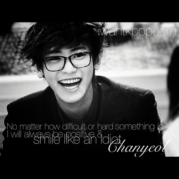 c a very nice quote ^^ chanyeol exo exok sm smtown flickr