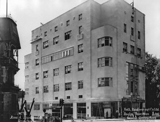 Holt Renfrew & Co. under construction, Sherbrooke St., Montreal, QC, 1937