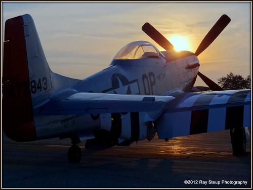 sunrise p51 p51mustang mustangmania sonydschx9v thunderovermichigan2012