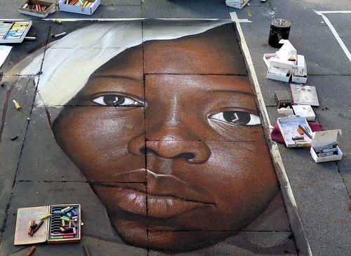 Straßenmalerei Geldern   by die.tine