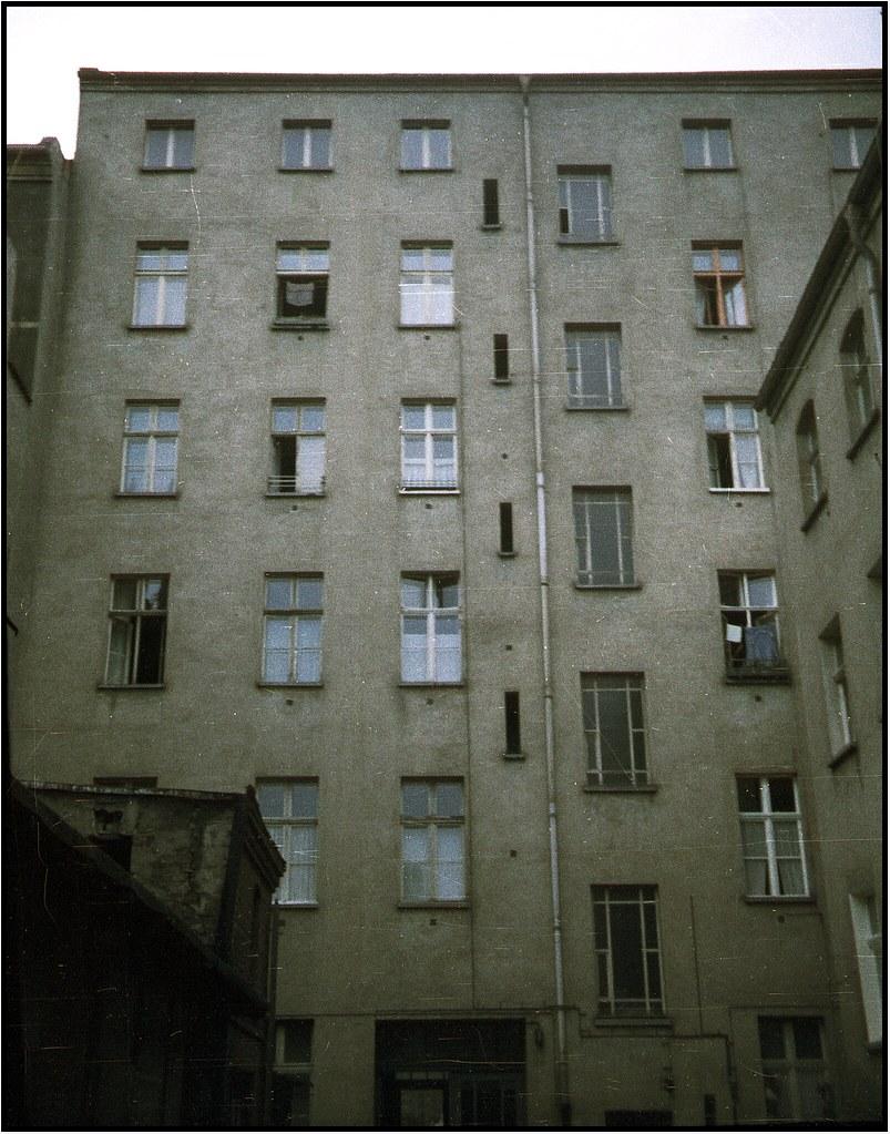 Hinterhof Ost Berlin Im Sommer 1976 Jessnerstr Auf Orwo
