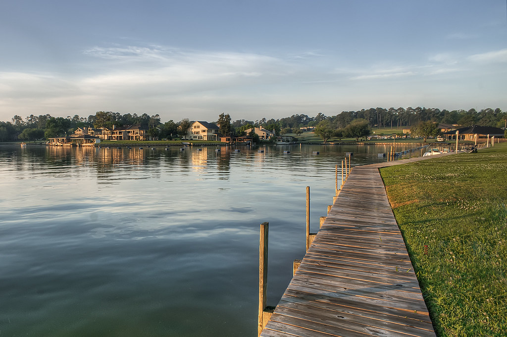 April Sound on Lake Conroe Easter Morning Montgomery, TX HDR