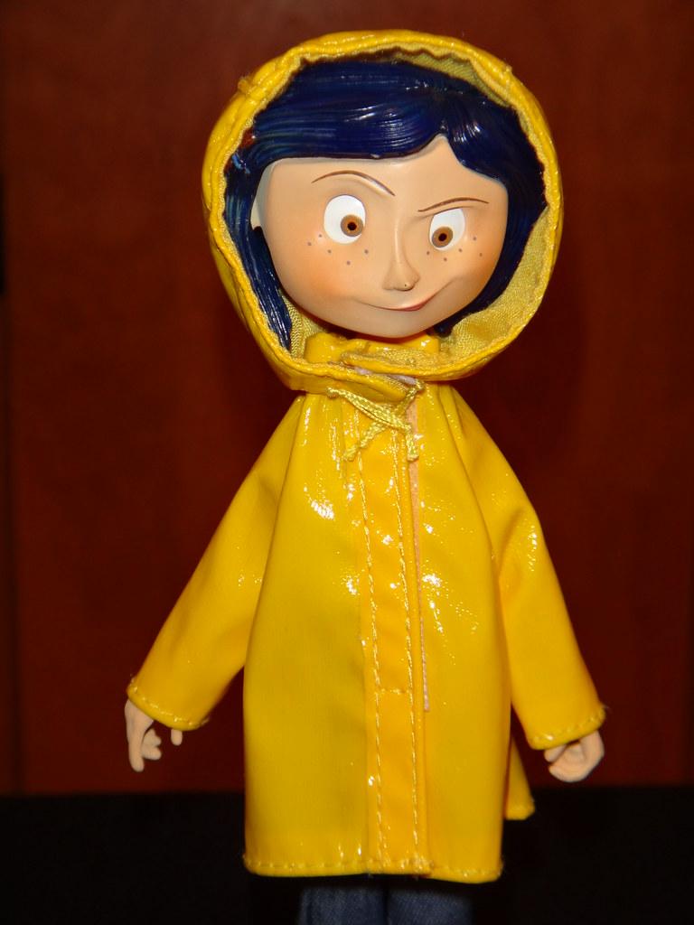 Neca Coraline Raincoat Bendy 7 Doll Deboxed Raincoat Flickr