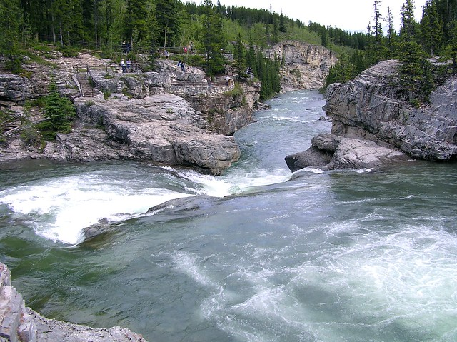 Elbow Falls from the top