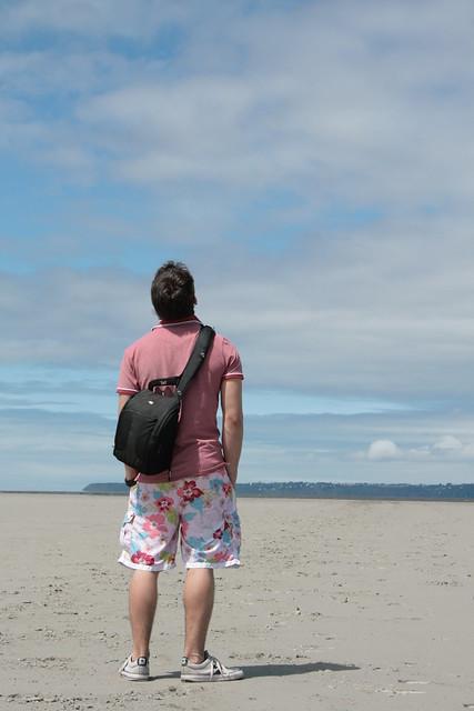 Porteur sur le sable
