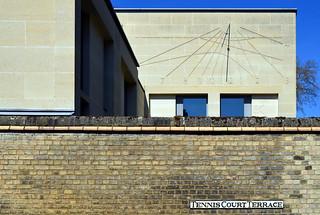 Foundress Court / sundial
