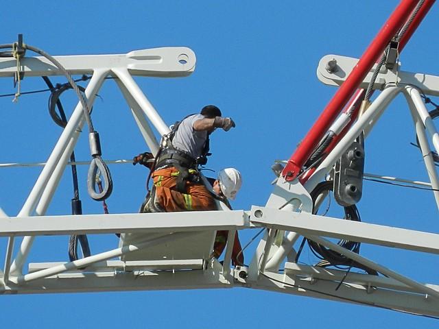 Assembling a Construction Crane