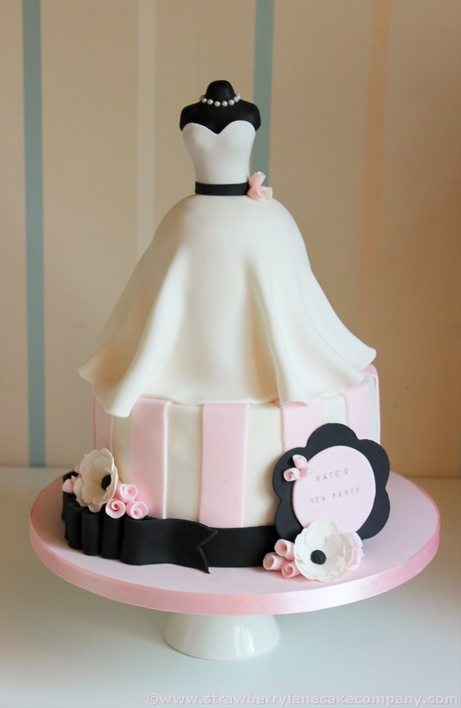 Wedding Dress Bridal Shower Cake for Kate I made this