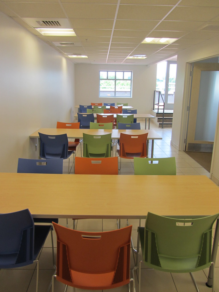 Lunch Room Tables And Bright Chairs! | Grappone | Flickr