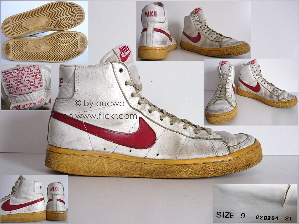 high quality beauty shades of 70`S / 80`S VINTAGE NIKE BLAZER HI SHOES / HI TOPS / BOOTS ...