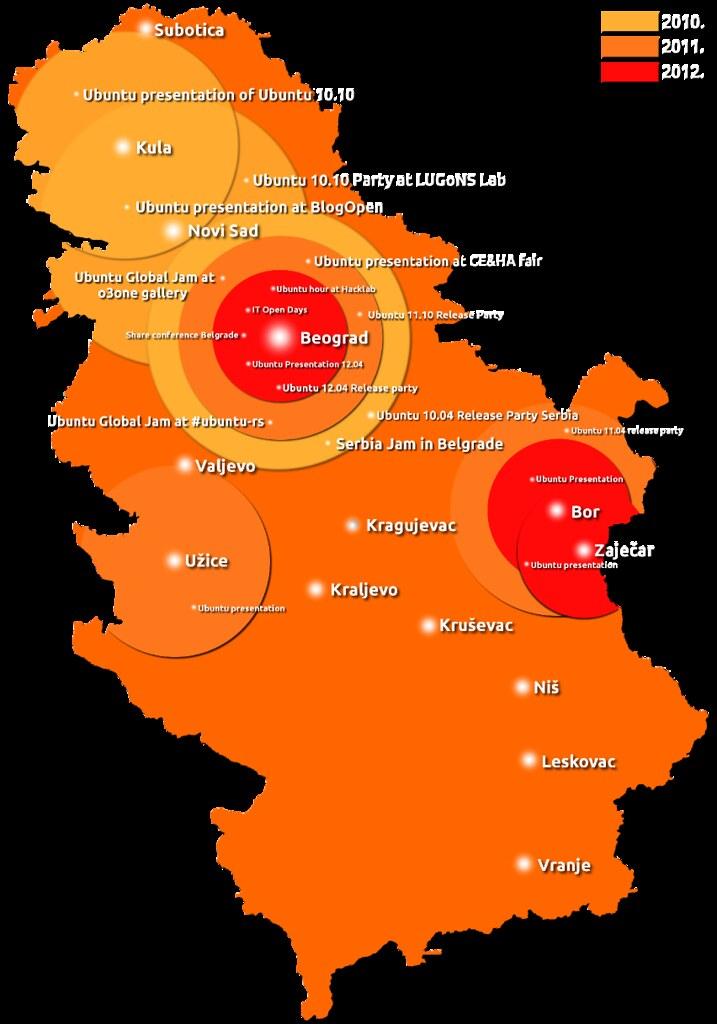 Mapa Manja Ubuntu Loco Serbia Flickr