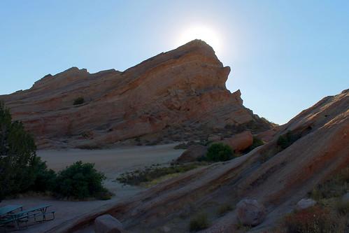 sunset color nature outside losangeles rocks desert hiking hike mojave formations santaclarita vasquez