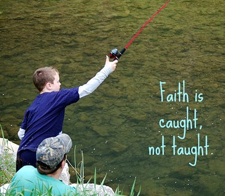 Faith is caught not taught | by Creative Carol