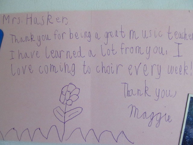 Note from Maggie