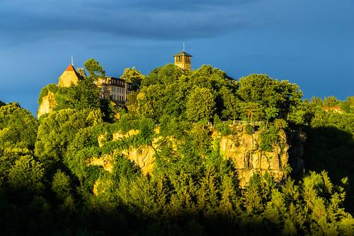 sunset mountain castle nature rock germany landscape europe outdoor sunsetlight burg sächsischeschweiz saxonswitzerland hohnstein sonyalpha redfurwolf