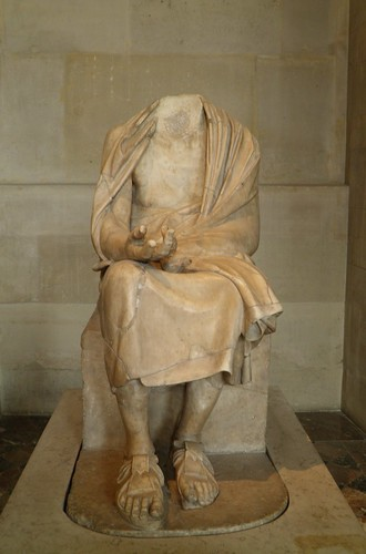 Statue of a seated old man, Chrysippus, a Greek Stoic philosopher, 2nd century AD, Louvre Museum | by Following Hadrian