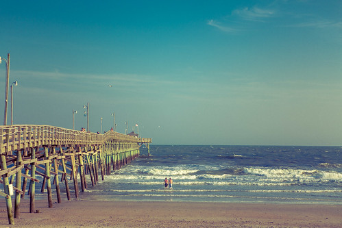ocean beach pier northcarolina oakisland
