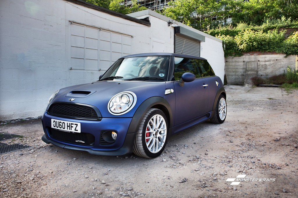 Bmw Mini Cooper S Jcw Matte Midnight Blue Wrap Bmw Mini Flickr