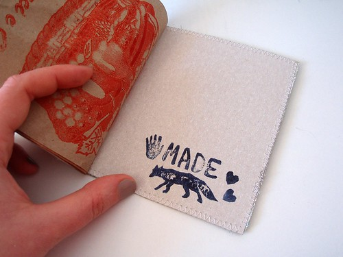 Handmade recycled notebook - detail | by Madame Renard