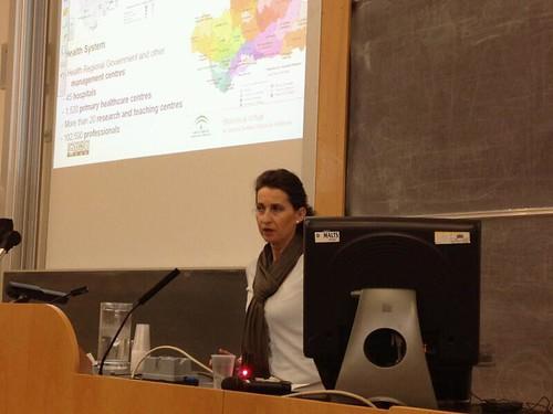 Pilar Toro durante la presentación en OR 2012