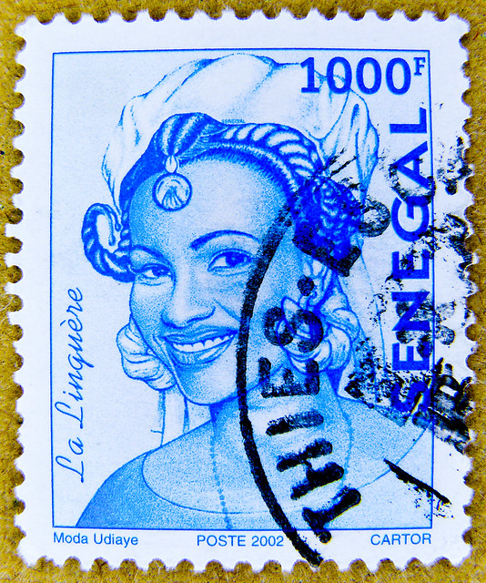 beautiful stamp Senegal 1000F Woman from Linguère francobollo Briefmarke Senegal selo sello poste timbre Sénégal 邮票  塞内加尔 ма́рка Сенега́л poštovní známka Senegal  طابع بريدي السنغال  Σενεγάλη γραμματόσημο सेनेगल डाक – टिकट   郵便切手 セネガル  בול דואר סנגל