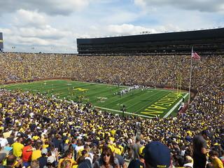 Michigan Stadium, University of Michigan, Ann Arbor, Michigan   by Ken Lund