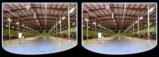Danville AAF Museum Main Tank Room 1Cross-eye 3D
