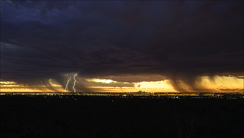 city light sunset sky storm weather skyline clouds landscape scenery cityscape dusk sony scenic australia wideangle lightning alpha tamron thunder zigzag westernaustralia 2470mm gooseberryhill a99 cityofperth slta99 stevekphotography