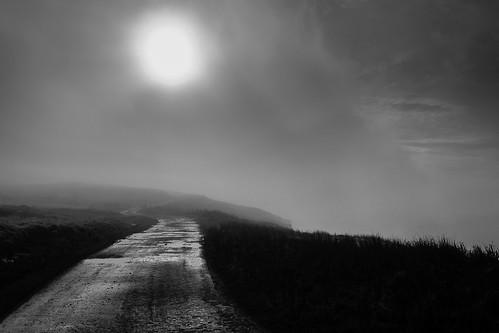 uk morning autumn blackandwhite mist mountain fog southwales wales contrast sunrise landscape outdoors countryside nikon shadows britain cymru puddles rhondda bwlch rhonddavalley nikond3300 d3300