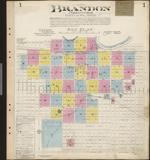 Insurance plan, sheet 1, Brandon, Manitoba, May 1910, revised June 1913 / Plan d'assurance-incendie, feuille 1, Brandon (Manitoba), mai 1910, révisé en juin 1913