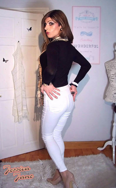 Tight White Jeans