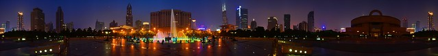 Shanghai - People's Square 360 degree night pano