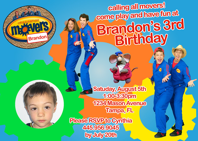 Personalized Imagination Movers Water Bottle Gift