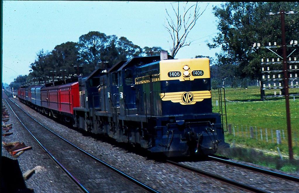 Melbourne to Albury / Cobram Passenger Train at Tallarook Victoria by Rodney S300