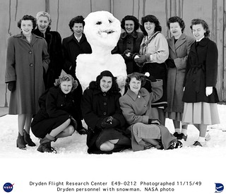 NACA Muroc Employees With a Snowman | by NASA on The Commons