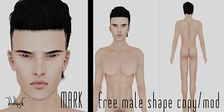 blackLiquid SHAPE - mark male model freebie