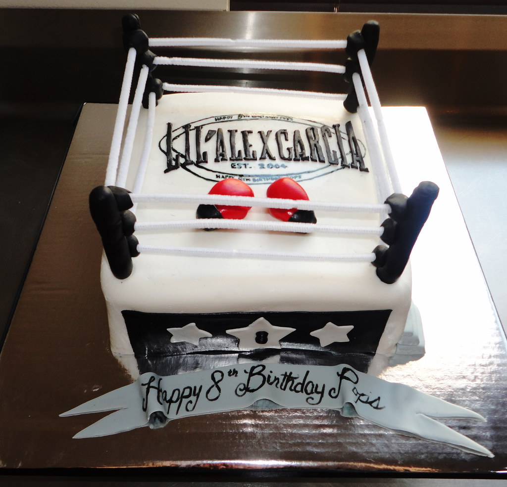 Pleasing Boxing Ring Cake Cakes By Marlene Flickr Funny Birthday Cards Online Hendilapandamsfinfo