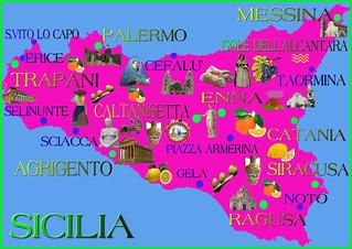 Cartina Noto Sicilia.Cartina Della Sicilia Turistica Mappa Turistica Della Sici Flickr