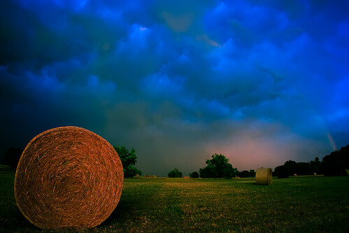 sunset field rainbow unitedstates oz kansas fields haybale heritagepark olathe
