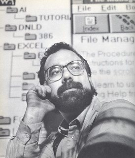 User Services Coordinator Mark Rice in Academic Computing's teaching laboratory in 1992