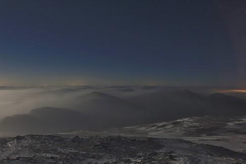 new sky night clouds washington mt view adams north hampshire full mount madison clay summit vista below jefferson february feb moonset stratus 2015 undercast