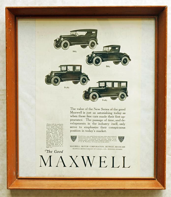 CM015 1922 Maxwell Car Ad Framed DSC04200