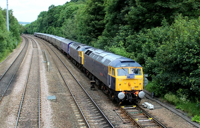 Rail Operations Group Class 47s 47848 - 47812 - Chesterfield