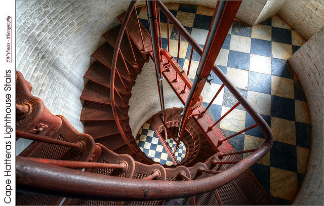 Cape Hatteras Lighthouse Stairs – (HDR/Tone-Mapped)