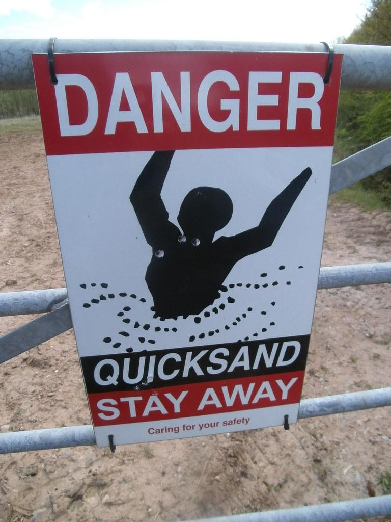 Danger Quicksand, Lake, Ambaston, Derbyshire   Danger! Quick…   Flickr