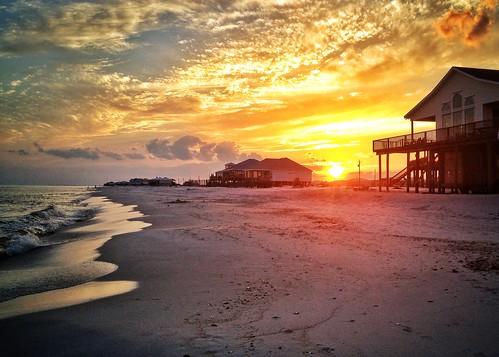 sunset beach island coast gulf alabama dauphin westend gulfcoast dauphinisland